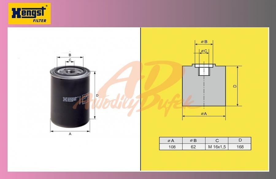 filtr naftový IVECO STRALIS-HENGST