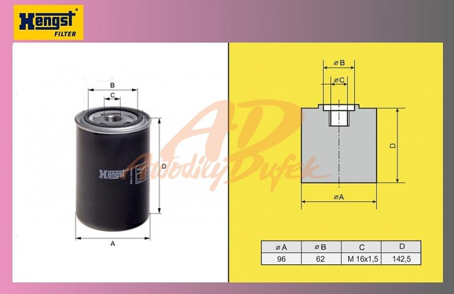 filtr naftový DAF 95XF-HENGST