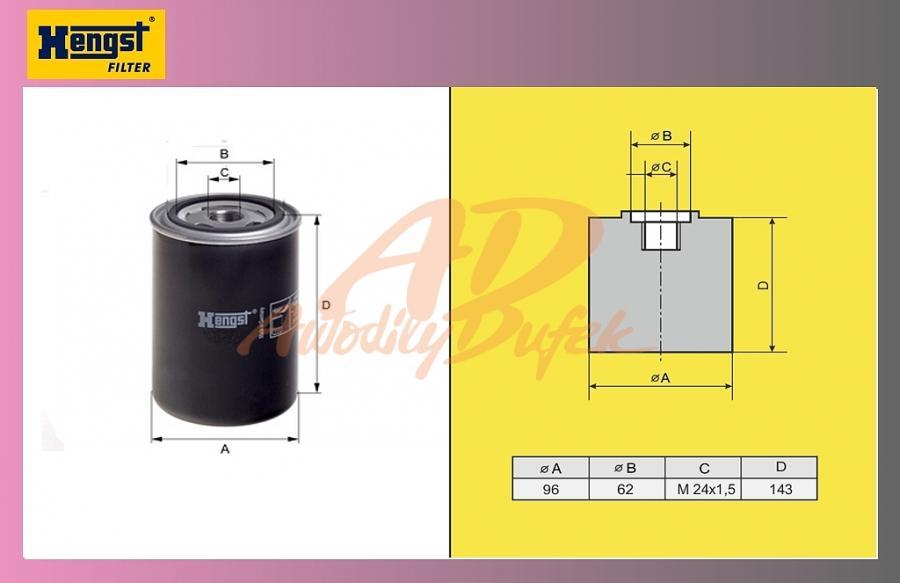 filtr naftový SCANIA 124 La-HENGST