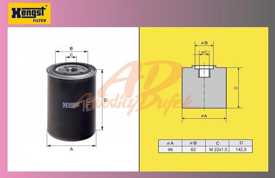 filtr naftový VOLVO FH12 HENGST