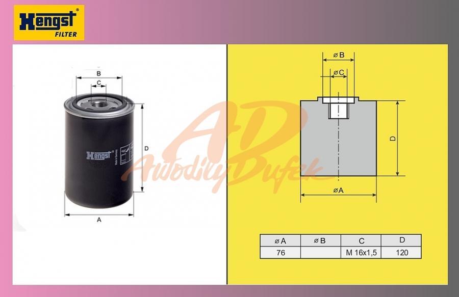 filtr naftový RENAULT Magnum-H60WK07