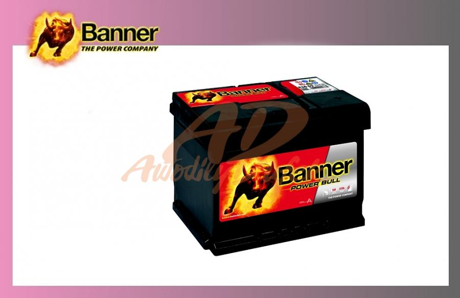 autodily dufek autobaterie banner 60ah 12v 540a power bull. Black Bedroom Furniture Sets. Home Design Ideas