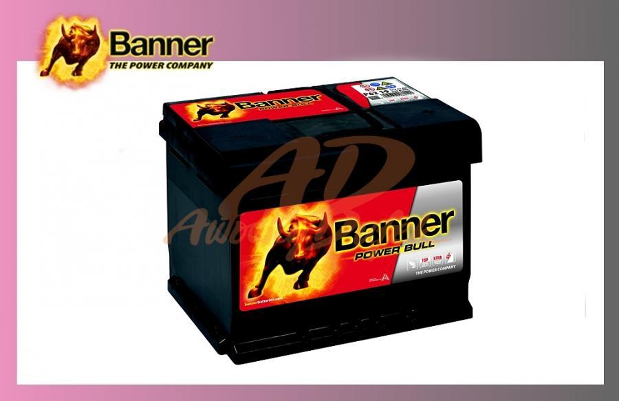 baterie BANNER 62Ah/12V/540A Power Bull