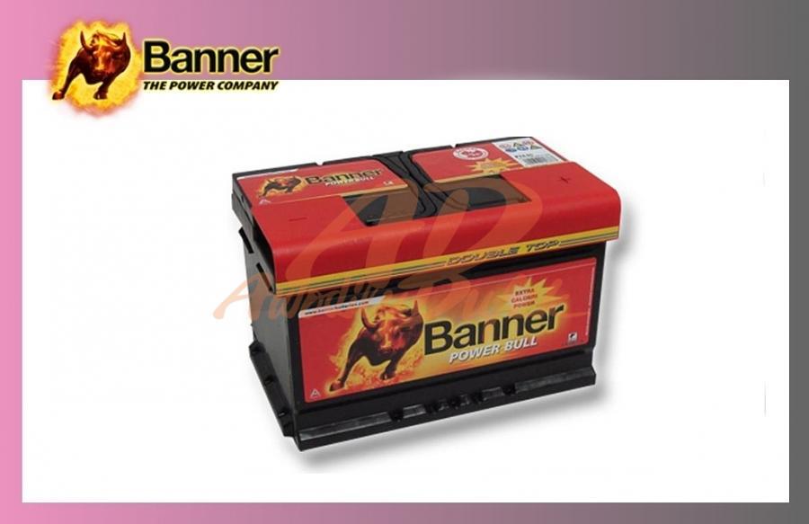 baterie BANNER 74Ah/12V/680A Power Bull