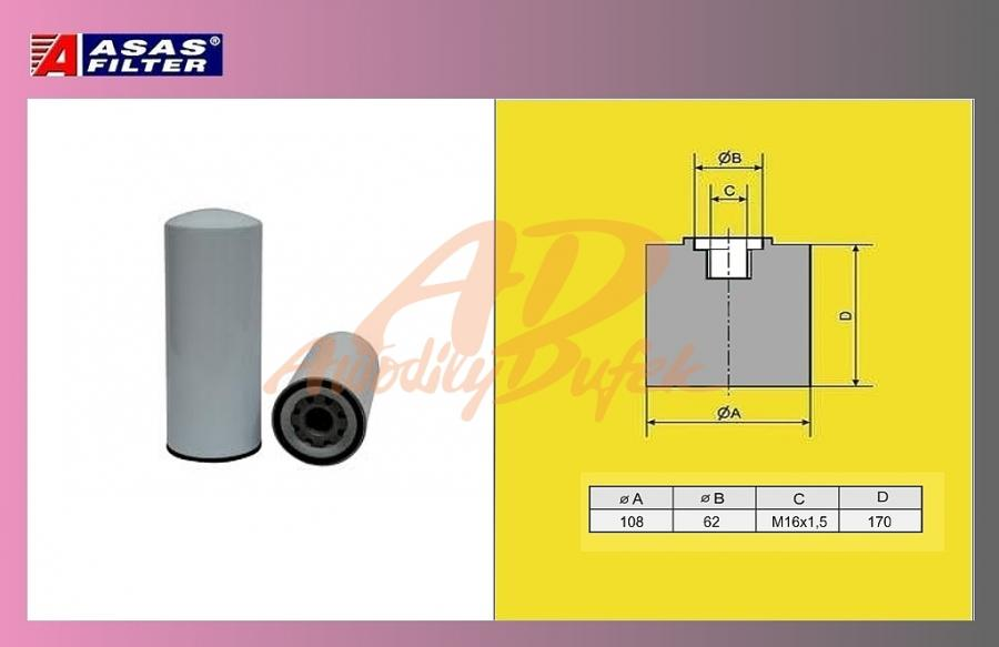 filtr naftový IVECO STRALIS 08-ASAS
