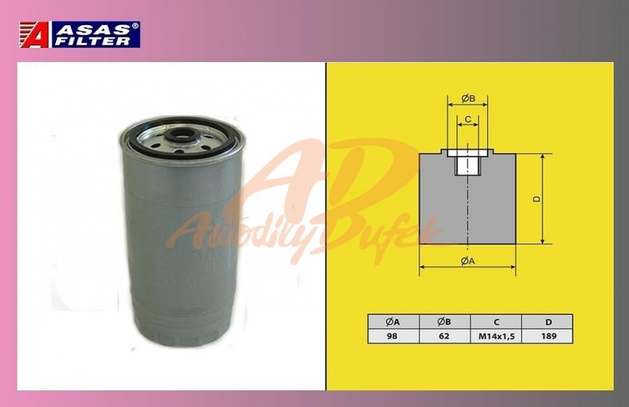 filtr naftový IVECO ETECH,ECAR,ETRAK