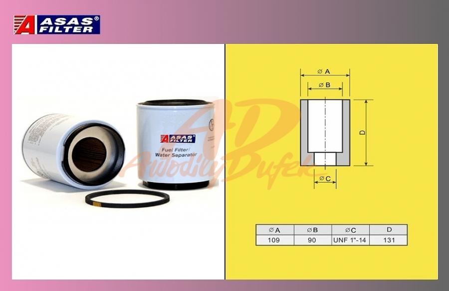 filtr naftový VOLVO FH12,SCANIA-separ.