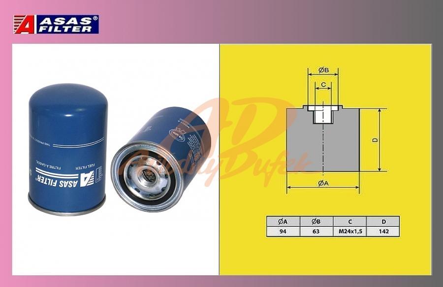 filtr naftový SCANIA 124LA,144-ASAS
