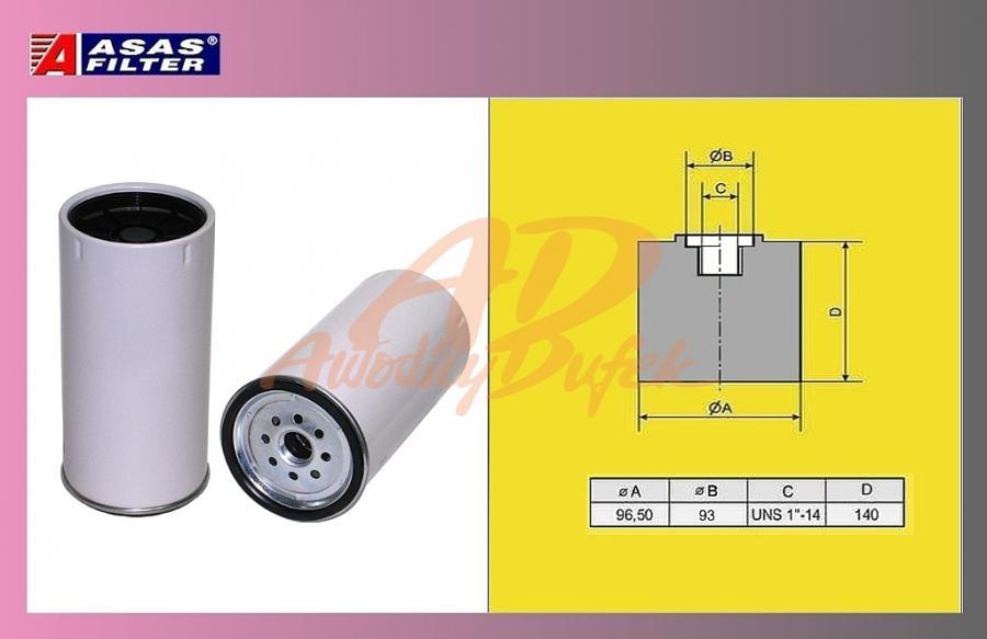 filtr naftový Volvo FH16-separ.ASAS